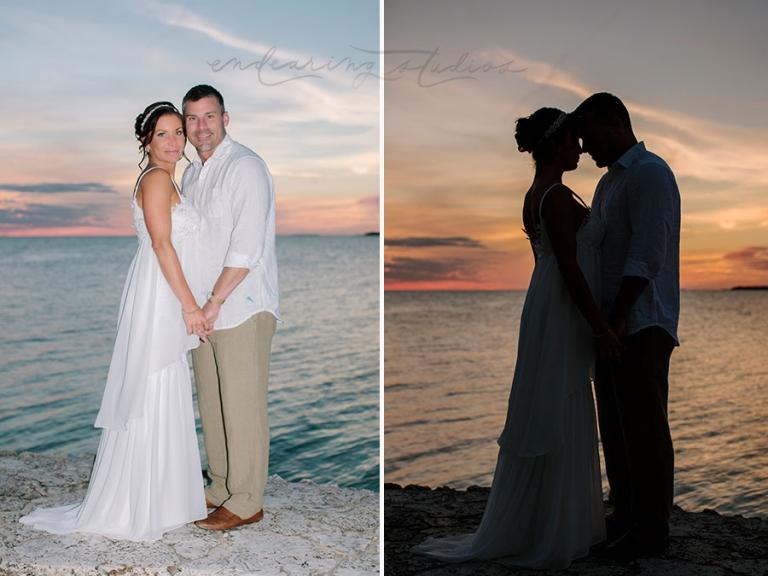 key largo wedding sunset